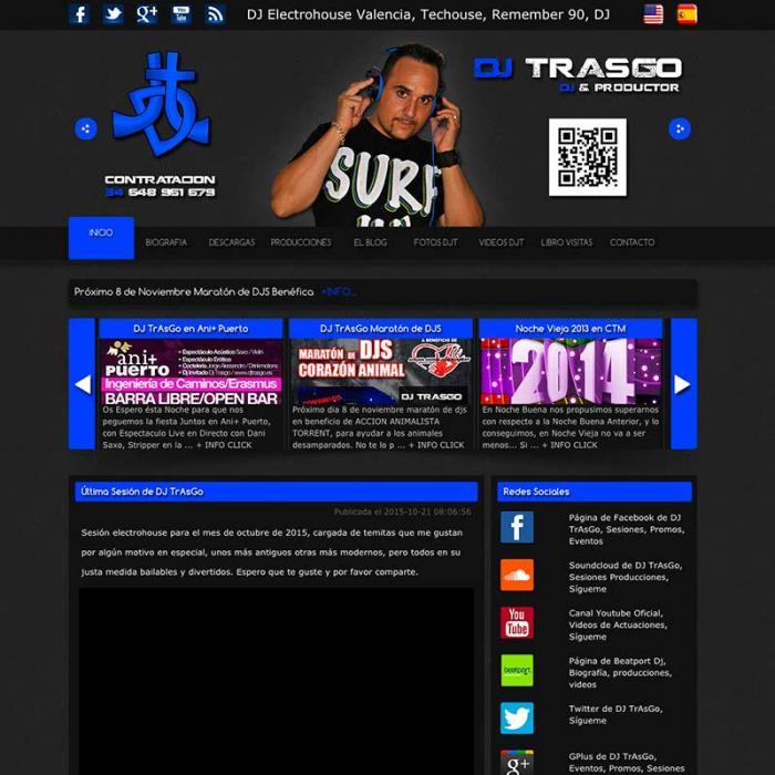 Página web de DJ TrAsGo