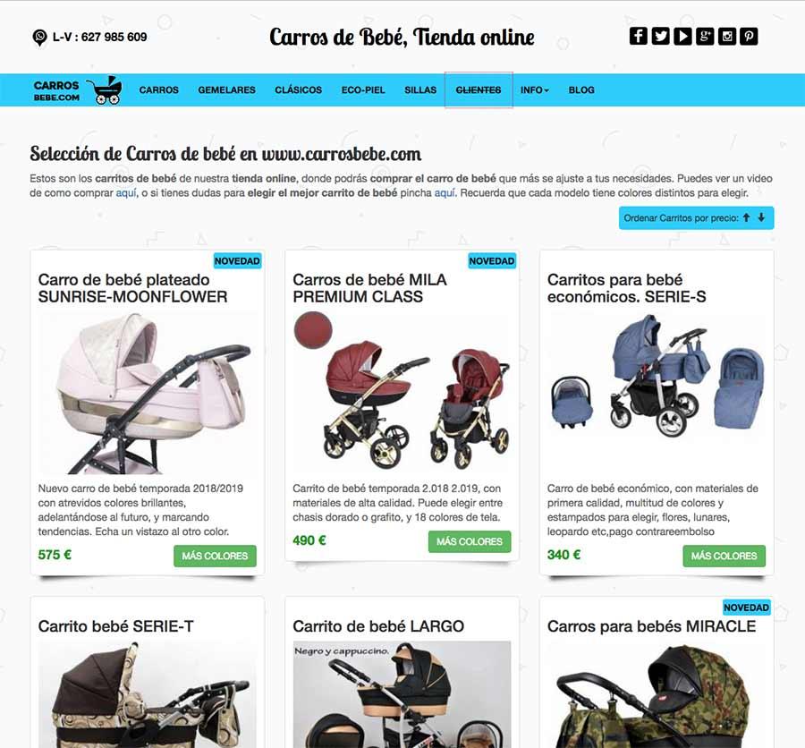 carros de bebe tienda online