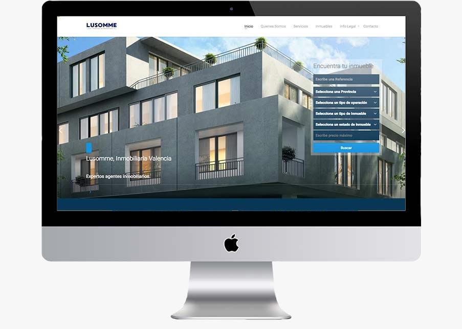 página web inmobiliaria lusomme