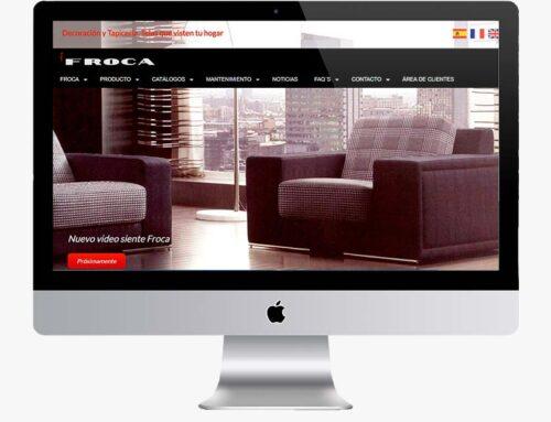Página web para telas Froca