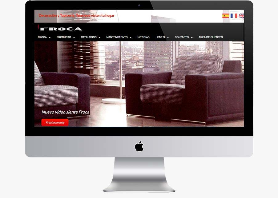 diseño web telas froca